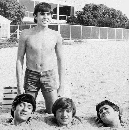 Early photo of the Monkees