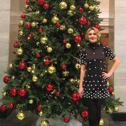 December 2015. Maria at Christmas tree