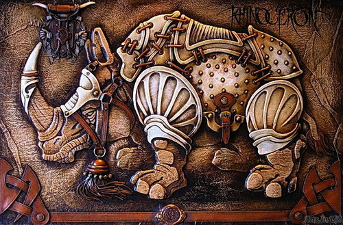 Highly detailed Decorative panel. Artwork by Ukrainian artist Victor Goryaev