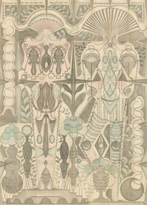 Louise Despont drawing on antique ledger book pages