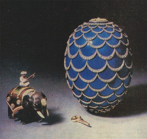 "Egg ""pinecone"", made in the Imperial court by jeweler Carl Faberge firm in 1900."