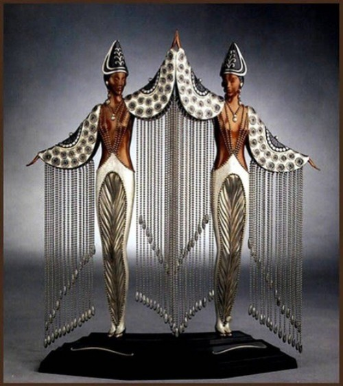 Elegant sculptures by Russian artist and designer Romain de Tirtoff