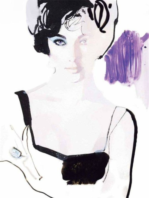 Fashion illustration by British artist David Downton