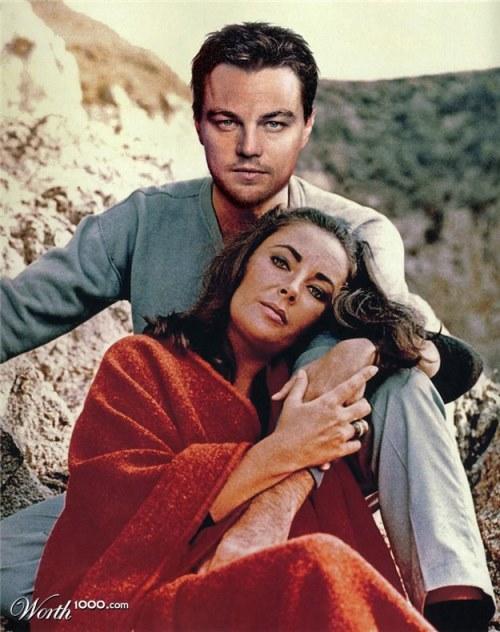 Elizabeth Taylor and Leonardo DiCaprio