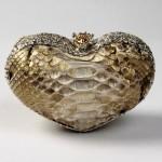 Heart-shaped minaudiere perfect romantic accessory