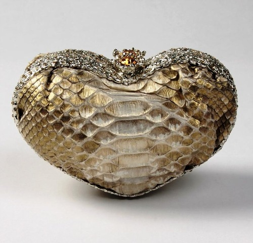 Heart-shaped minaudiere perfect romantic accessory