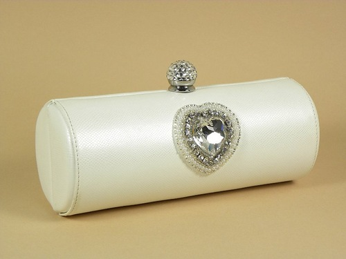 Cylindrical shape evening bag