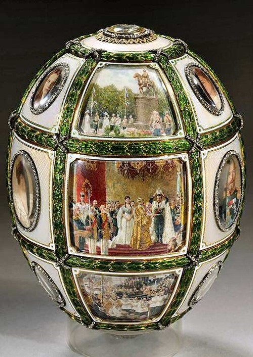 Faberge Egg '15th Anniversary of the reign'.