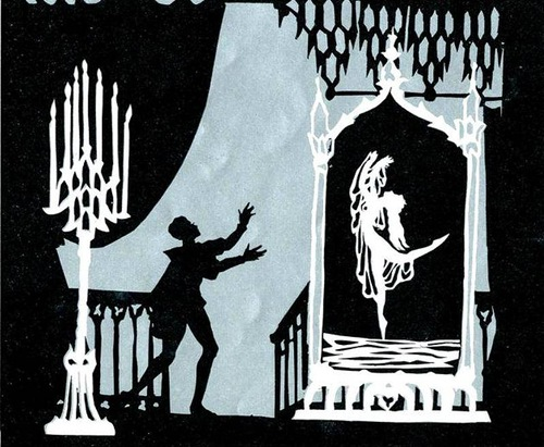 Fairytale silhouettes by German silhouette animator Lotte Reiniger