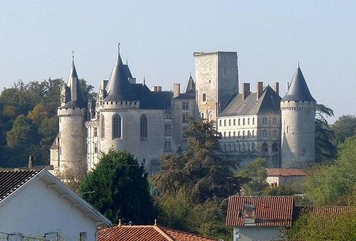 Family castle of La Rochefoucauld (Charente)