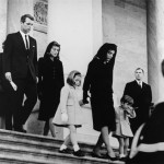 Family members out of the U.S. Capitol after a farewell ceremony for President November 24, 1963.