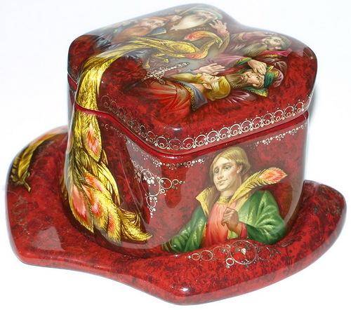 "Russian folk tale ""Firebird"". Fedoskino lacquer box"