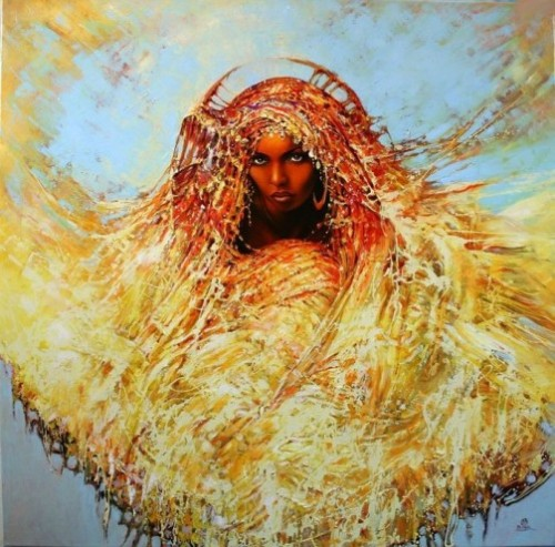 Female beauty in paintings by Polish artist Karol Bak