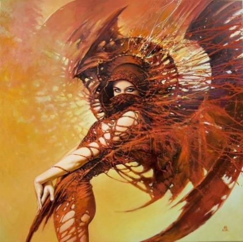 Painting by Polish artist Karol Bak