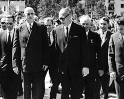 French President Charles de Gaulle. 23-25 ​​June 1966