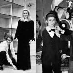 French fashion designer Yves Saint Laurent and beautiful actress Catherine Deneuve