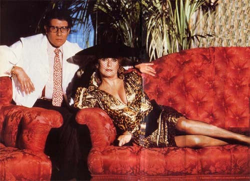 French fashion designer Yves Saint Laurent and beautiful actress Catherine Deneuve