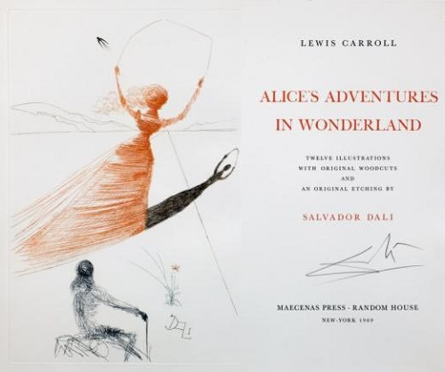 Dali's illustration for Alice in Wonderland