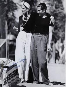 Gabrielle 'Coco' Chanel & Serge Lifar, 1937
