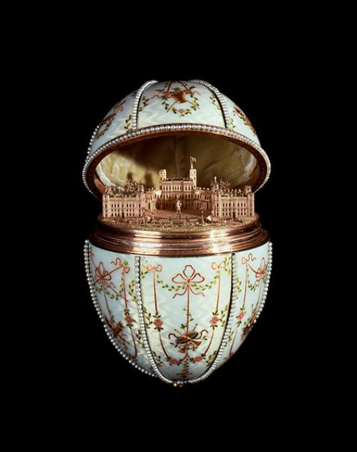 Great Gatchina Palace. Work by Russian jeweller Carl Faberge