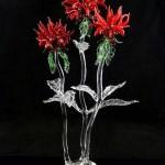 Glass art by American artist Ronnie Hughes