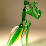 Mantis religiosa. Glass insect sculptures by American artist Wesley Fleming