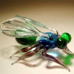 Fly. Glass insect sculptures by American artist Wesley Fleming