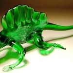 Iguana. Glass insect sculptures by American artist Wesley Fleming