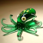Octopus. Glass insect sculptures by American artist Wesley Fleming