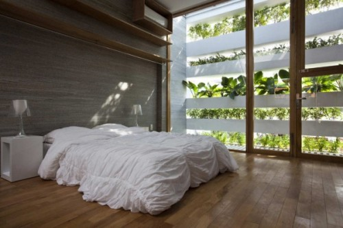 The energy saving Green House designed by architects Vo Trong Nghia, Daisuke Sanuki, Nishizawa Shunri in Vietnam