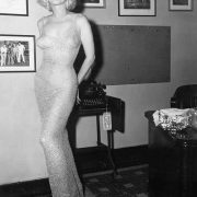 Happy birthday Mr. President. Marilyn Monroe in her sparkling dress