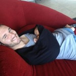 Happy dad with Kiyoshi James Vujicic