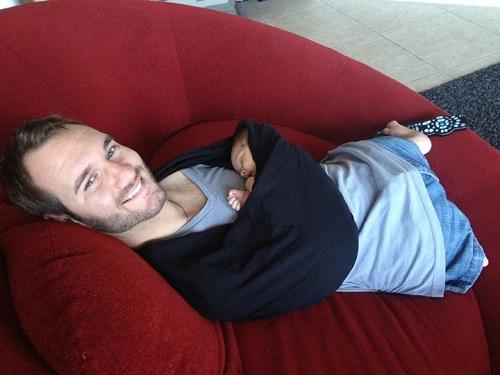 Happy dad with Kiyoshi James Vujicic