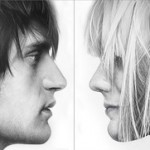 A man and a woman's portraits. Hyperrealistic drawings by British artist Simon Hennessey