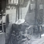 A bicycle. Hyperrealistic pencil drawings by Scottish artist Paul Cadden