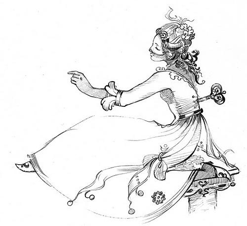 illustration by Novosibirsk based artist Natasha Tabatchikova