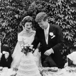 John Kennedy and Jacqueline on their wedding day, September 12, 1953
