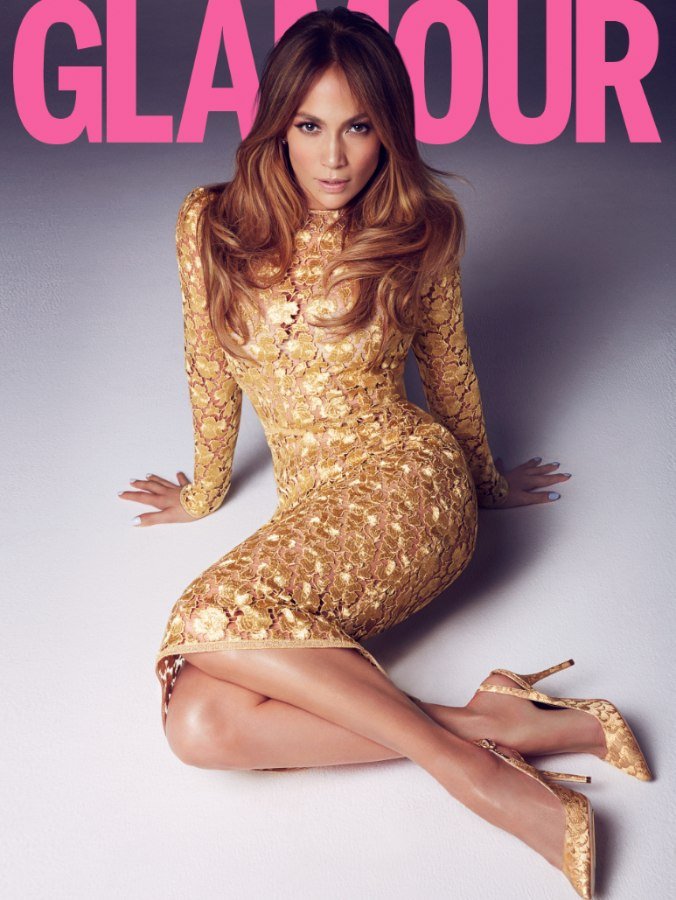 Jennifer Lopez. Glamour UK 2014