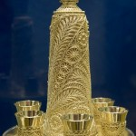 Wine set of gold. Jewelry of Krasnoselskiy Yuvelirprom