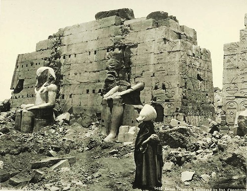 Karnak, Temple of Tuthmosis III. Egypt in retro photographs of 1870