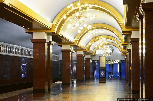 One of the stations of Kazan metro, Republic of Tatarstan, Russia