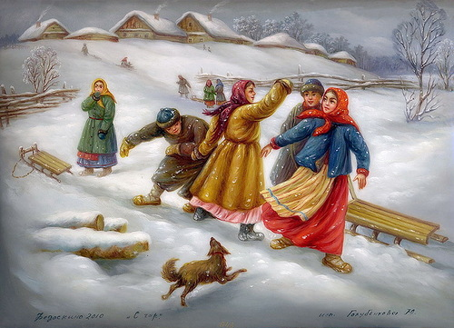 Sledging from the mountain