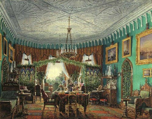 Living Room of Empress Alexandra Fyodorovna. Hermitage