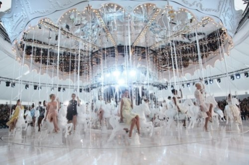 Louis Vuitton ready-to-wear SS 2012 show during Paris Fashion Week on Oct. 5, 2011