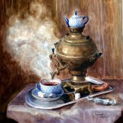 Lyubov Lesokhina (b. 1976). Hot tea