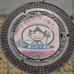 Very often, the main motif of manhole cover in Japan – characters of comics and cartoons