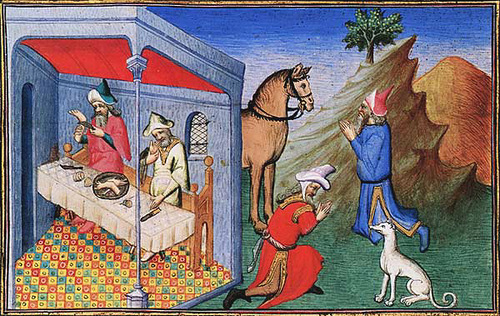Cynocephaly dog-head humans. Marco Polo-cannibalism