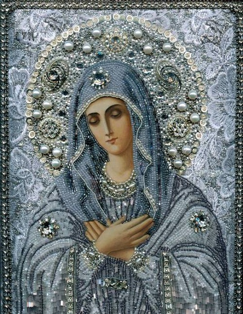 Maria Yantovskaya bead embroidered icons