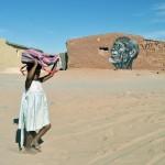 Street art in the Sahara desert