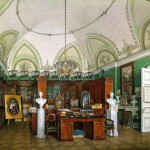 Military Library of Emperor Alexander II. Hermitage. Artist Eduard Hau